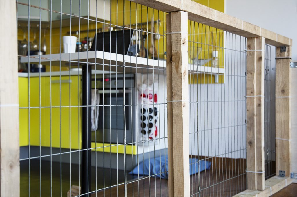 How to build a dog kennel pen indoors at home german for Building a dog kennel business